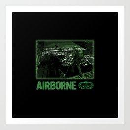 Airborne Jump at Night Art Print