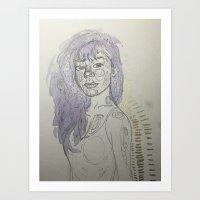leah flores Art Prints featuring Leah by Jessi
