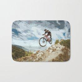 Flying Downhill on a Mountain Bike Bath Mat