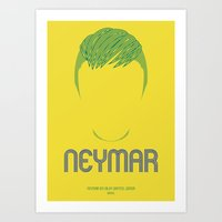 neymar Art Prints featuring NEYMAR by SixPointer