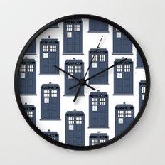Doctor WHO Tardis Pattern Wall Clock