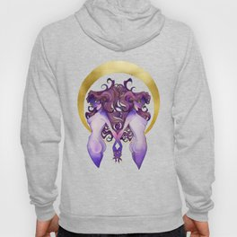 Gemini - Zodiac Sign - Watercolor Ink and Gold Foil illustration Hoody