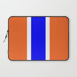 TEAM COLORS 10....ORANGE AND BLUE Laptop Sleeve