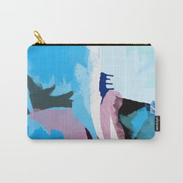 Sky blue abstract painting P21 Brushstrokes Carry-All Pouch