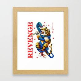 Revenge - Tiger Framed Art Print