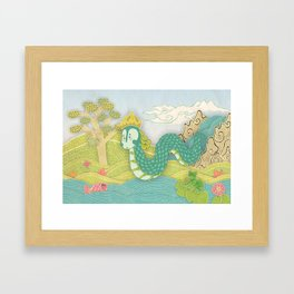 Javanese mystical dragon: Antaboga Framed Art Print