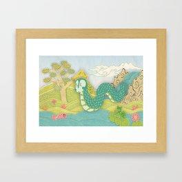 Javanese mystical dragon: Antaboga Framed Art Print