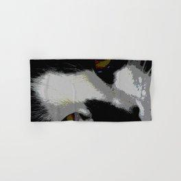 Black white cat Hand & Bath Towel