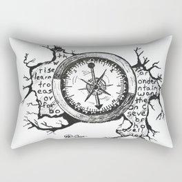 """Boy's Book of Adventure"" Hand-Drawn by Dark Mountain Arts Rectangular Pillow"