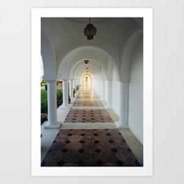 Monastic tranquility Art Print