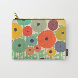 Cat in flower garden Carry-All Pouch
