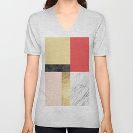 Geometric art IX Unisex V-Neck