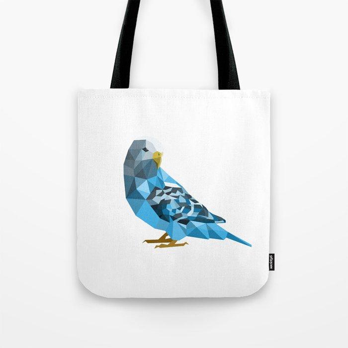 Geometric blue parakeet Tote Bag