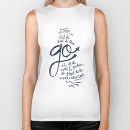 Go Into All The World Biker Tank