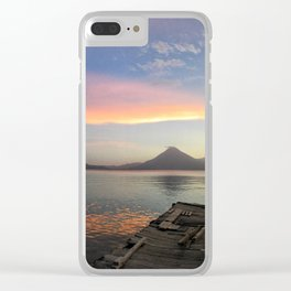 Lake Atitlan Sunsets Clear iPhone Case