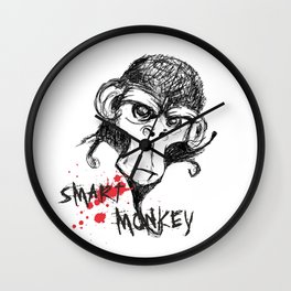 Smart Monkey Wall Clock