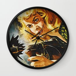 Cigar Smoking Hellcat of the Roaring Thirties Wall Clock