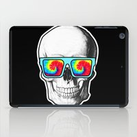 psychadelic iPad Cases featuring Psychadelic Skull Tiedye glasses by Chara Chara