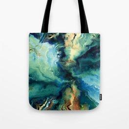 Marbled Ocean Abstract, Navy, Blue, Teal, Green Umhängetasche
