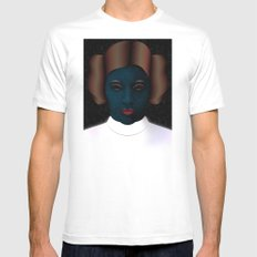 Princess Leia Art - Tribute to Carrie Fisher MEDIUM Mens Fitted Tee White