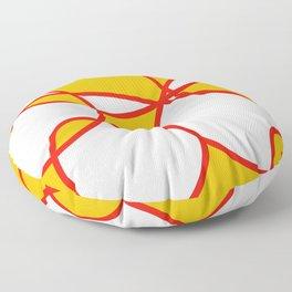 Abstract Summer Sunshine Floor Pillow
