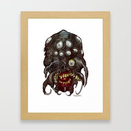 Heads of the Living Dead Zombies: Spider Fusion Zombie Framed Art Print