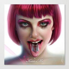 KISS ME - Pink Canvas Print