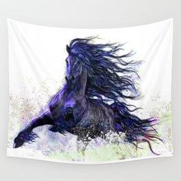 Horse running  Wall Tapestry