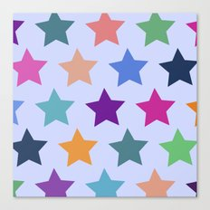 Colorful Stars Canvas Print