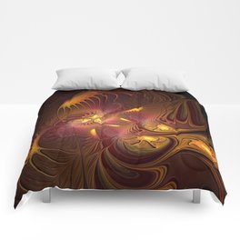 Coming Home, Abstract Fantasy Fractal Art Comforters