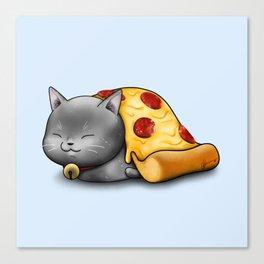 Purrpurroni Pizza Canvas Print