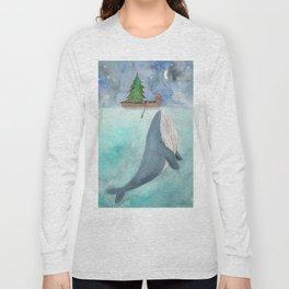 When a whale likes Christmas Long Sleeve T-shirt