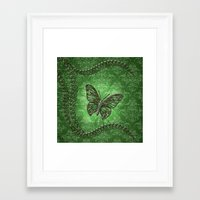 decorative Framed Art Prints featuring Decorative butterfly by nicky2342