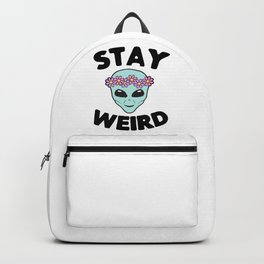 Stay Weird Alien Head Backpack