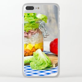 Lunch in a glass Clear iPhone Case