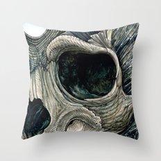 Fractal skull Throw Pillow