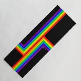 Modern Rainbow Yoga Mat