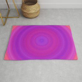 Orange & Purple Gradient Circles Rug