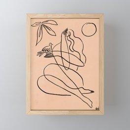 Summer Lines X  Framed Mini Art Print