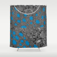 sagan Shower Curtains featuring - cosmos_04 - by Magdalla Del Fresto
