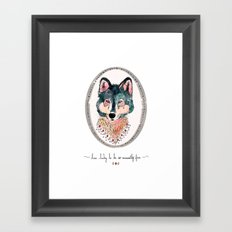 how lucky to be so unusually free Framed Art Print