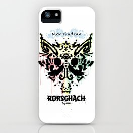 Rorschach Graphic  iPhone Case