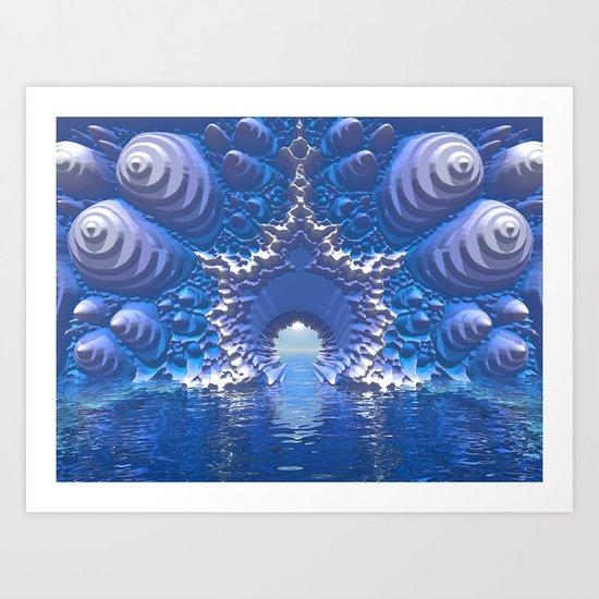 Blue Water Passage Art Print