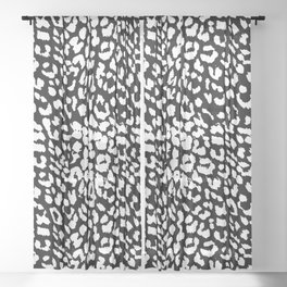 Leopard Black & White Sheer Curtain