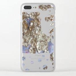 Gold Paper Foam Clear iPhone Case