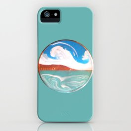 Painting of the Ocean on a Penny Print iPhone Case