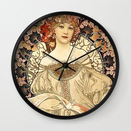 Art Nouveau Wall Clock
