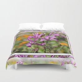PASTEL PURPLE FLOWER  Duvet Cover