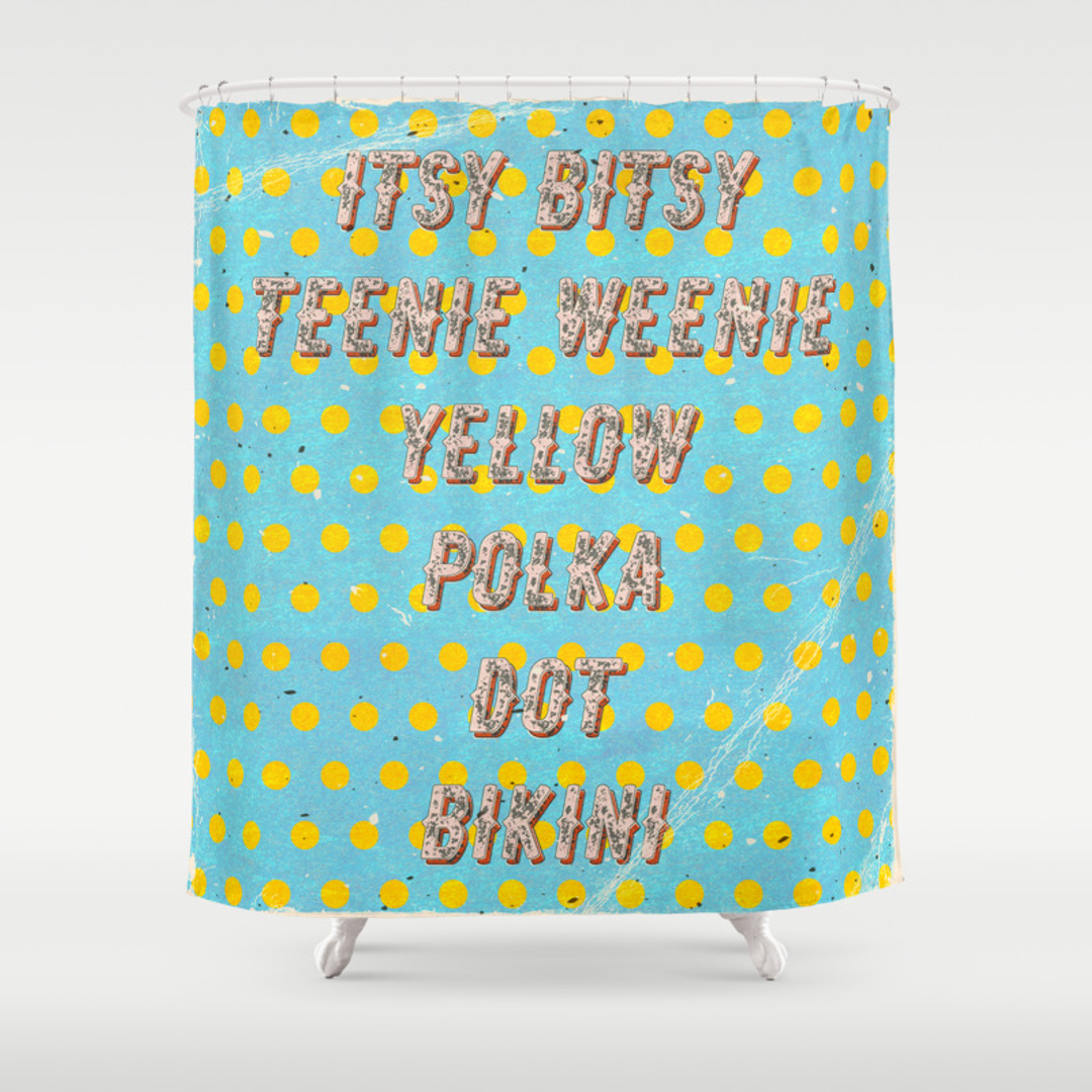 Sexy Shower Curtains   Society6. Teal And Yellow Shower Curtain. Home Design Ideas