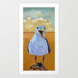 Crying Seagull Art Print